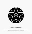 pentacle satanic project star solid black glyph vector image vector image