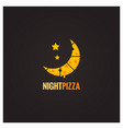 pizza night concept design background vector image vector image