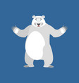 polar bear happy emoji wild animal arctic and vector image