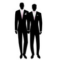 queer wedding gay groom couple newlyweds vector image vector image