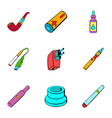 recharge icons set cartoon style vector image vector image
