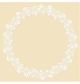 Round frame made of white paper cut flowers vector image vector image
