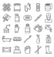 sanitation disinfectant icons set outline style vector image vector image