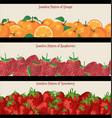 seamless pattern of raspberries strawberries vector image vector image