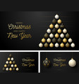 set luxury christmas and new year horizontal vector image vector image