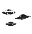 Set of alien flying saucers vector image