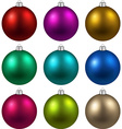 Set of realistic christmas balls vector image vector image