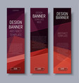 set vertical banners with brown polygonal vector image vector image
