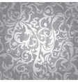 silver floral seamless vector image vector image