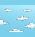 sky halftone background vector image