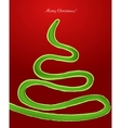 Snake in the form of a Christmas tree vector image vector image
