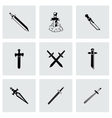 sword icon set vector image vector image