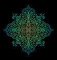 symmetric mandala future colorful gradient vector image vector image