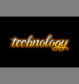 technology word text banner postcard logo icon vector image vector image