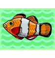 vintage background with fish vector image vector image