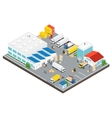 Warehouse Industrial Area Isometric vector image vector image