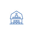 warehousefarmbarn line icon concept warehouse vector image vector image