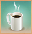 White coffee cup on old paper background vector | Price: 1 Credit (USD $1)
