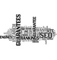 why clients seek seo guarantees text word cloud vector image vector image