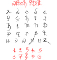 Witch font and numbers vector image vector image