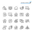 work from home line icons editable stroke vector image vector image