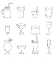 Collection of alcohol cocktails and drinks vector image