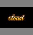 cloud word text banner postcard logo icon design vector image