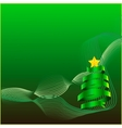 New year tree on the abstract background vector image