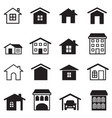 home condominium tower apartment icons set