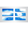abstract flow wavy banners set water vector image