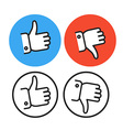 Approval lineart icons collection vector image