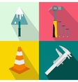 Architecture banners set flat style vector image