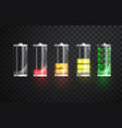 battery charging battery charging status vector image vector image