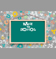 blackboard on background with letters vector image vector image