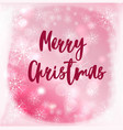 blurred background with merry christmas vector image vector image