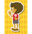 Boy and lollipop vector image vector image