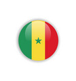button senegal flag template design vector image vector image