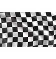 checkered flag car racing sport vector image vector image