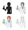 chemistprofessions single icon in cartoon style vector image vector image