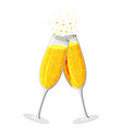 clinking glass champagne drink vector image