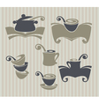 collection cooking stuff and food symbol vector image vector image