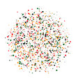 colored dots on white background abstract vector image vector image