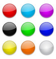 colored glass 3d buttons round icons vector image vector image