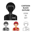courier icon in cartoon style isolated on white vector image vector image