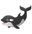 Cute killer whale cartoon vector image vector image