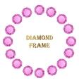 Diamonds round frame vector image