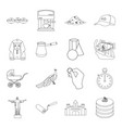 ecology animals finance and other web icon in vector image