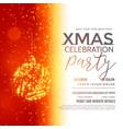festival greeting design for christmas season vector image vector image