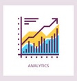 Financial analytics icon business concept