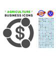 financial collaboration icon with agriculture set vector image vector image